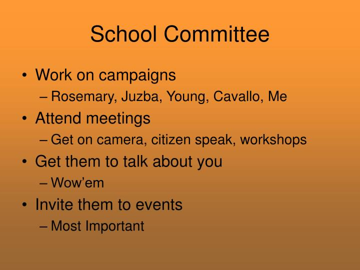 School Committee