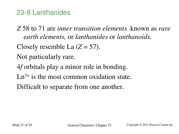 23-8 Lanthanides