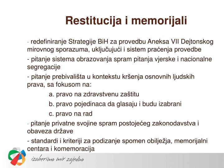Restitucija i memorijali