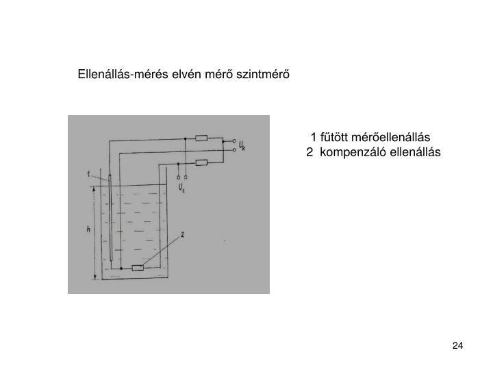Ellenállás-mérés elvén mérő szintmérő