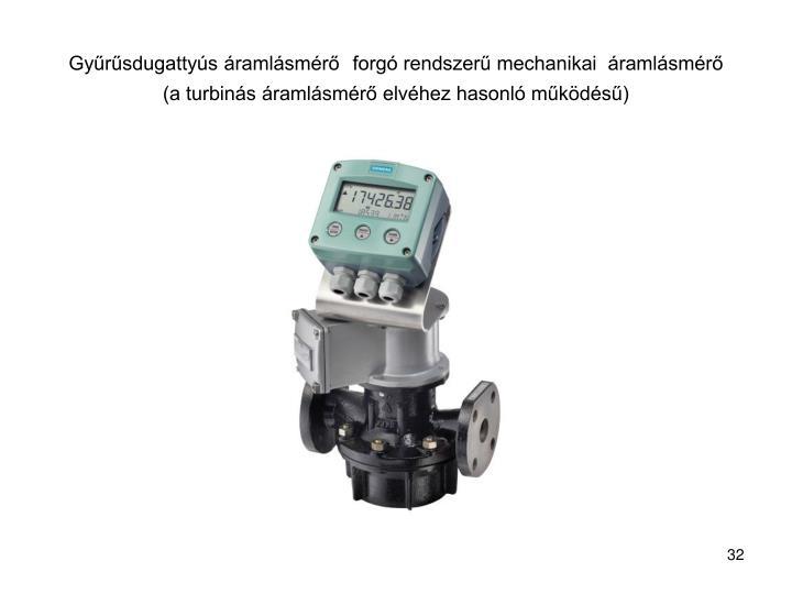 Gyűrűsdugattyús áramlásmérő