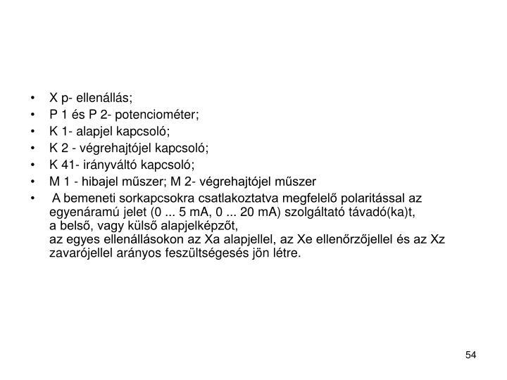 X p- ellenállás;