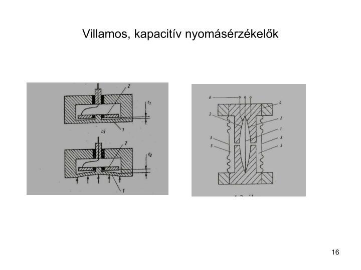 Villamos, kapacitív nyomásérzékelők