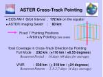 aster cross track pointing