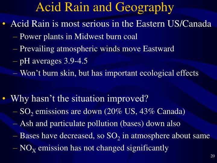 Acid Rain and Geography