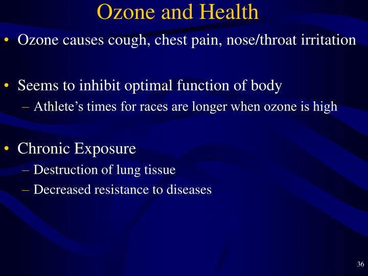 Ozone and Health