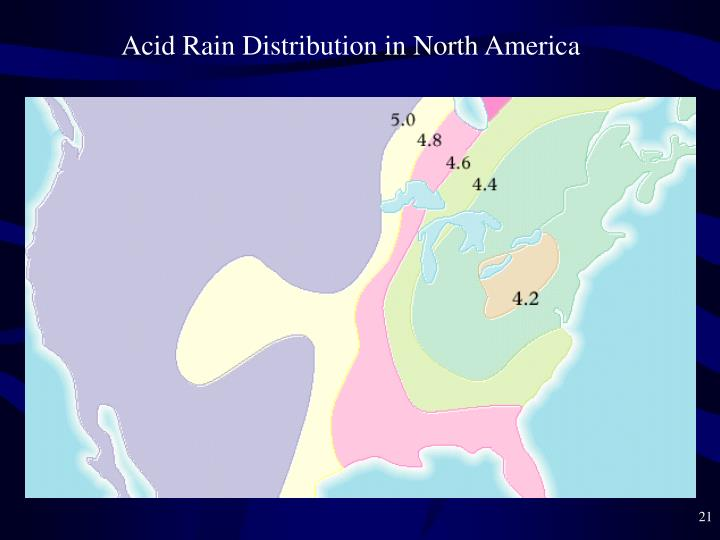 Acid Rain Distribution in North America