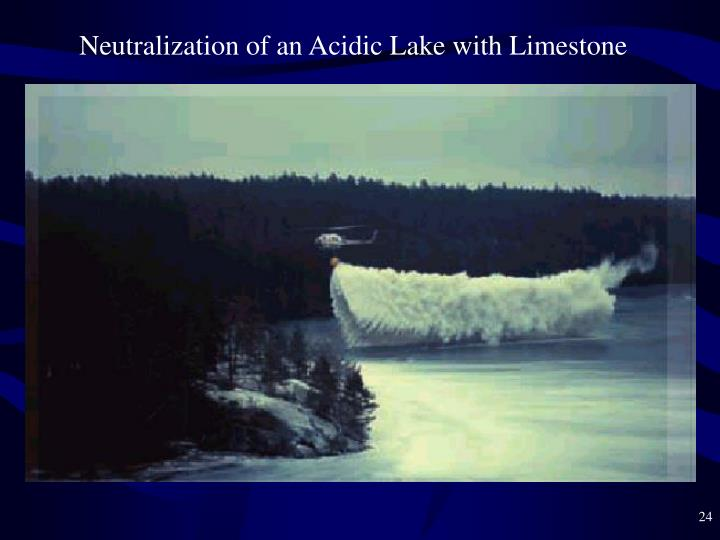 Neutralization of an Acidic Lake with Limestone