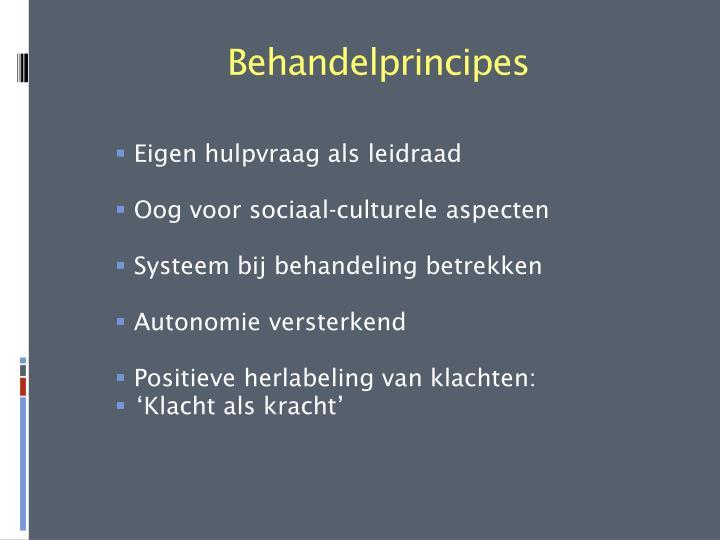 Behandelprincipes