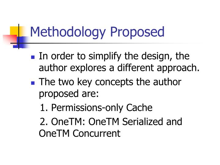 Methodology Proposed