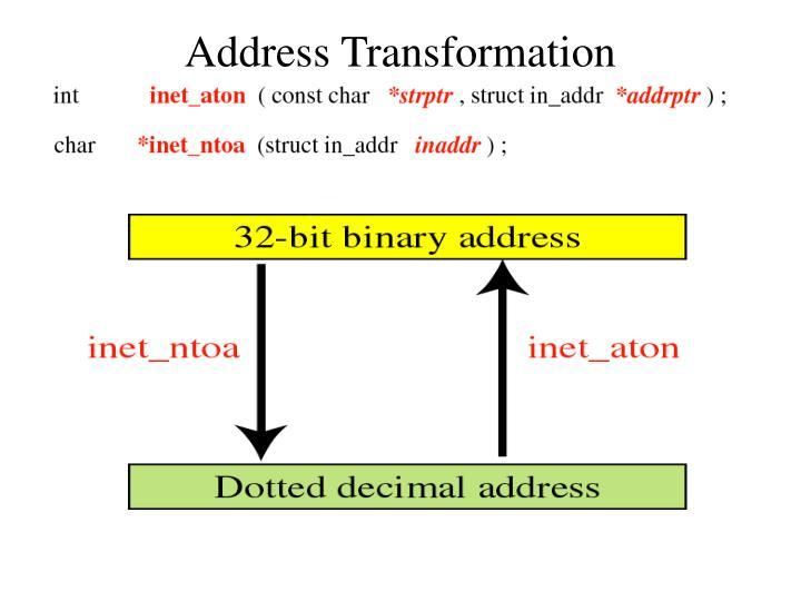 Address Transformation