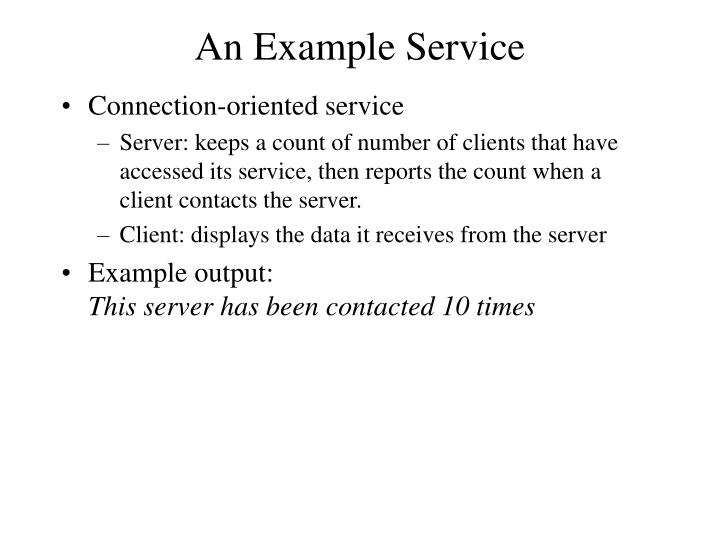 An Example Service