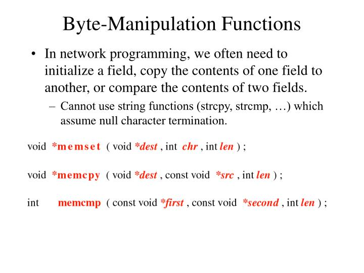 Byte-Manipulation Functions