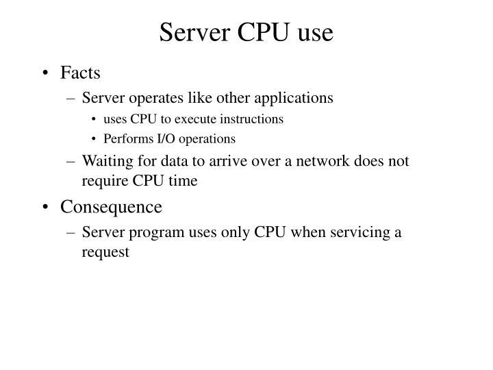 Server CPU use