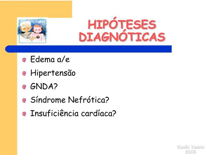 HIPÓTESES DIAGNÓTICAS