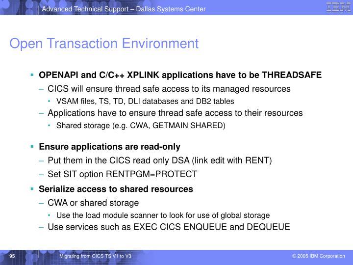 Open Transaction Environment