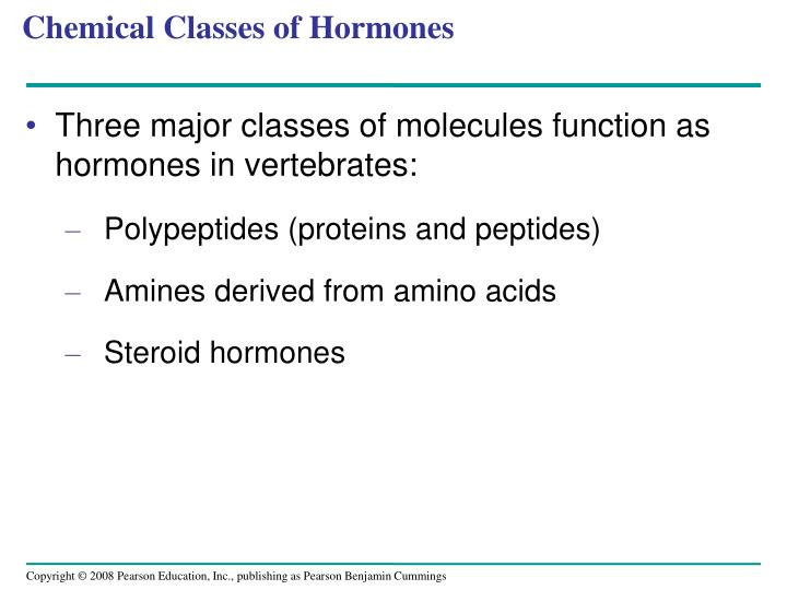 Chemical Classes of Hormones