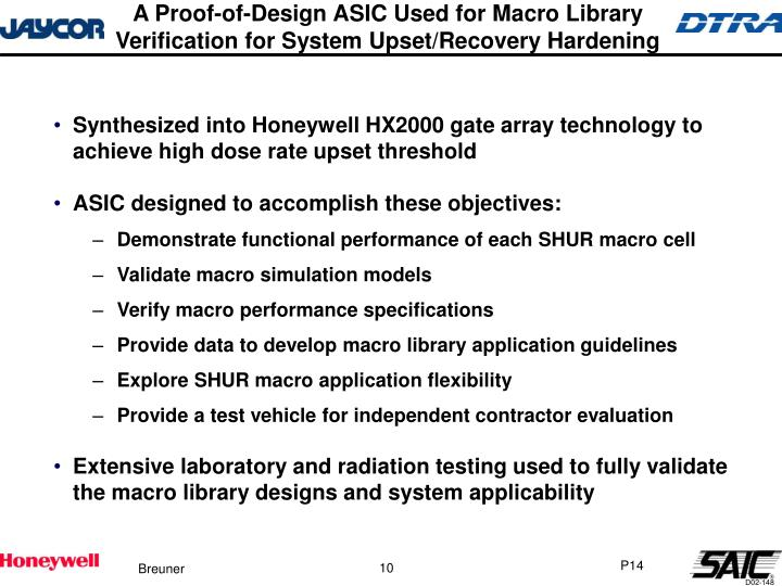A Proof-of-Design ASIC Used for Macro Library