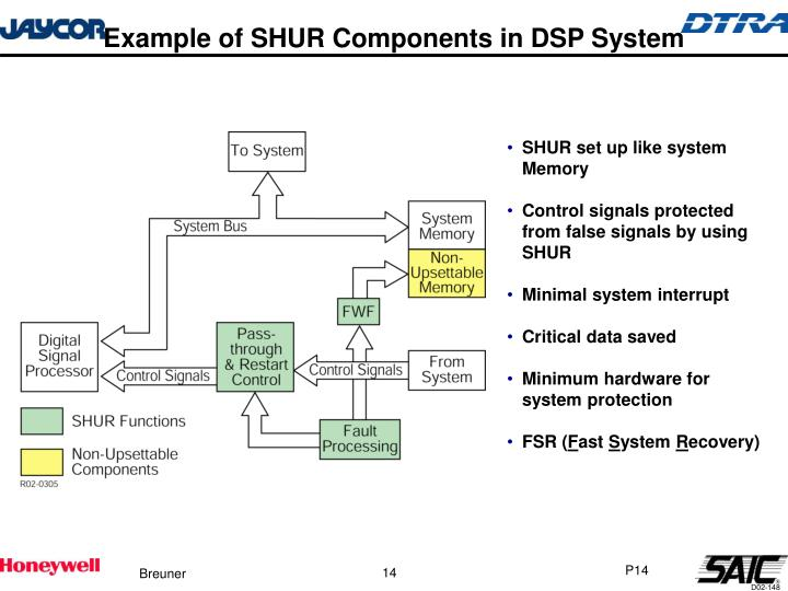 Example of SHUR Components in DSP System