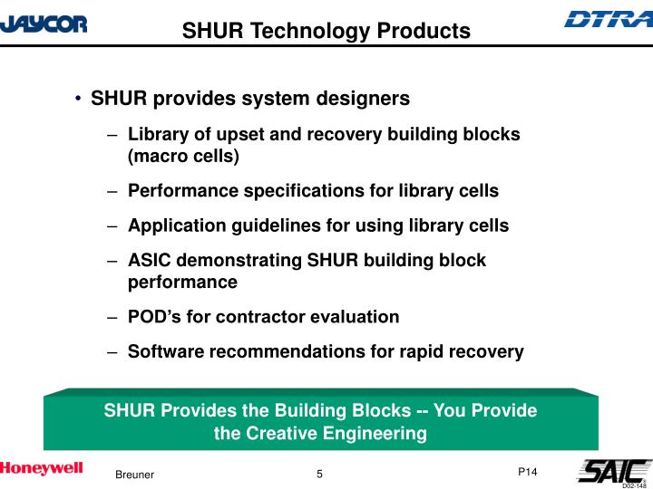 SHUR Technology Products
