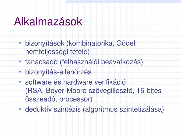 Alkalmazások