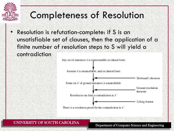 Completeness of Resolution