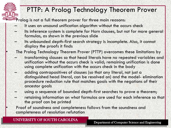 PTTP: A Prolog Technology Theorem Prover