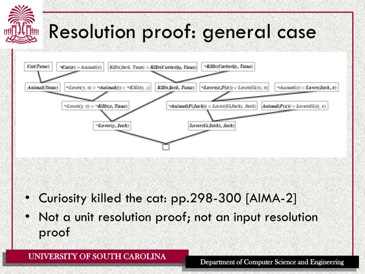 Resolution proof: general case