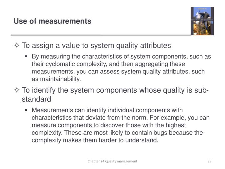 Use of measurements
