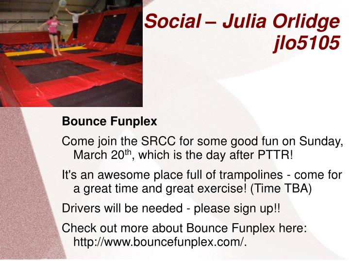Social – Julia Orlidge