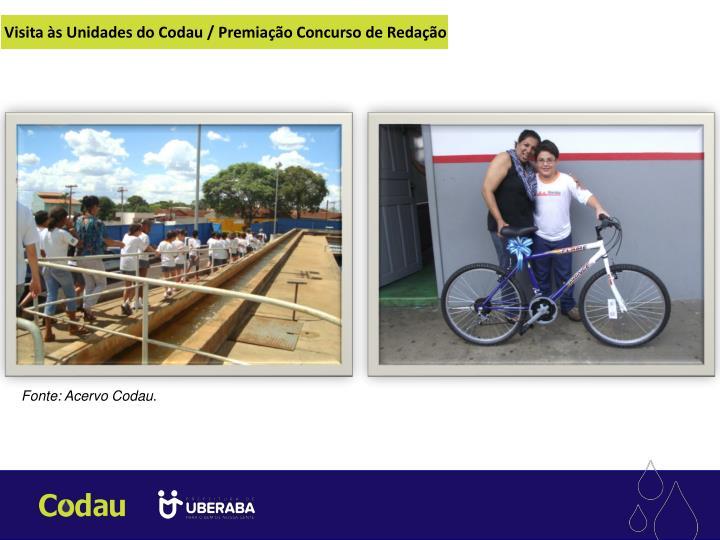 Visita às Unidades do Codau / Premiação Concurso de Redação