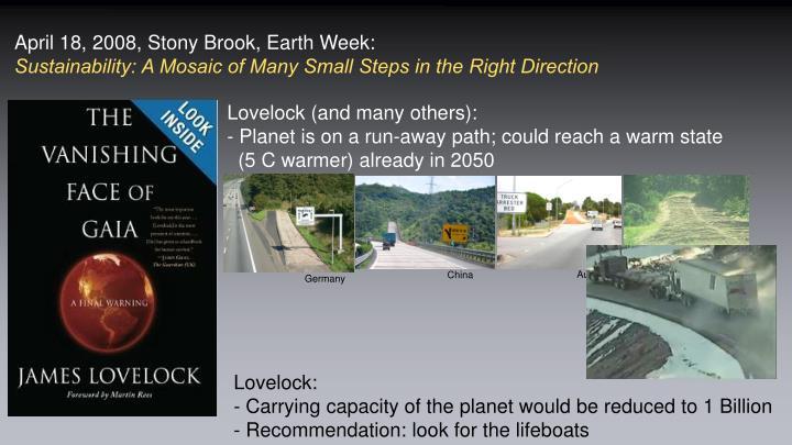 April 18, 2008, Stony Brook, Earth Week: