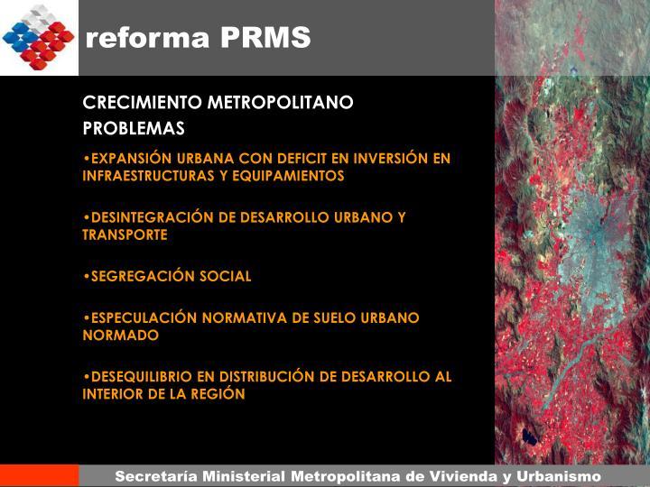reforma PRMS