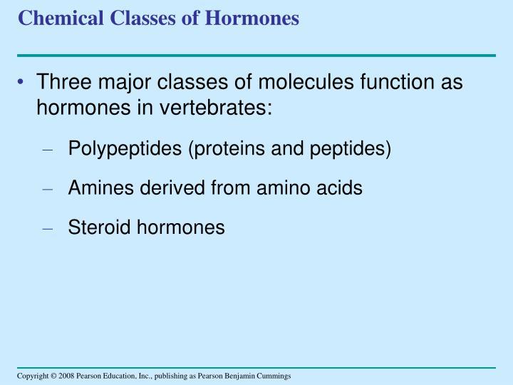 Chemical Classes of Hormones