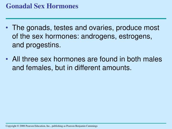 Gonadal Sex Hormones