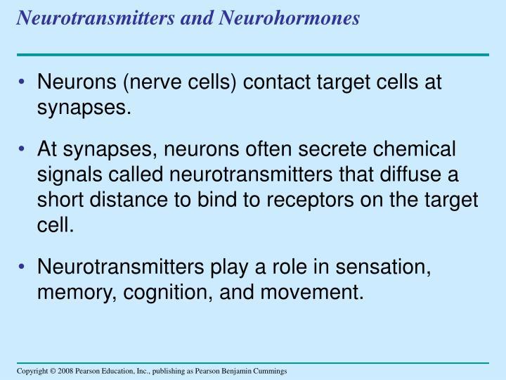 Neurotransmitters and Neurohormones