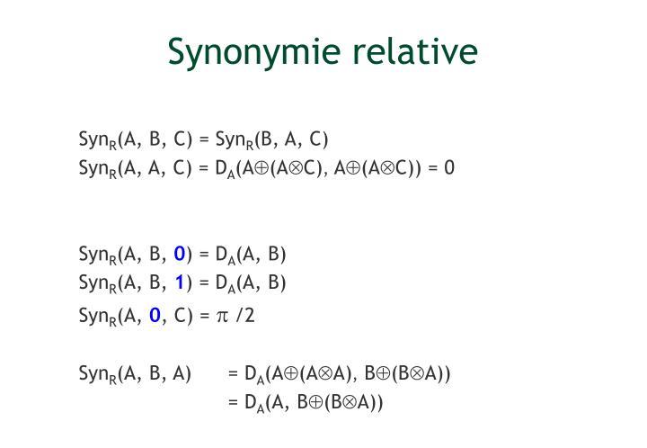 Synonymie relative