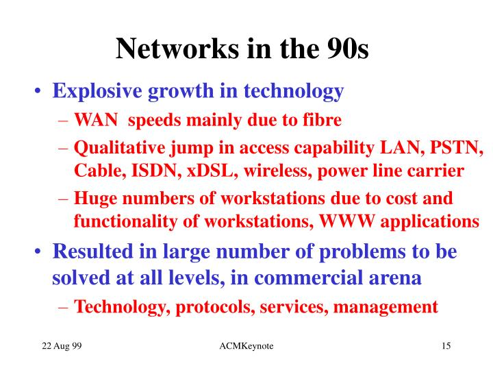 Networks in the 90s