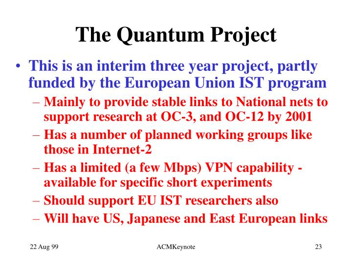 The Quantum Project