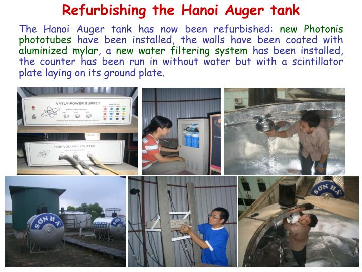 Refurbishing the Hanoi Auger tank