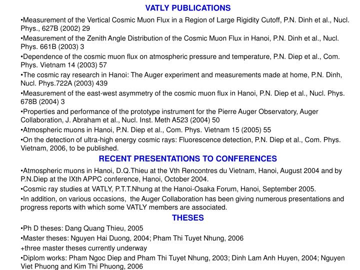 VATLY PUBLICATIONS