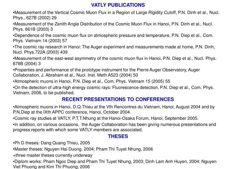 VATLY PUBLICATIONS