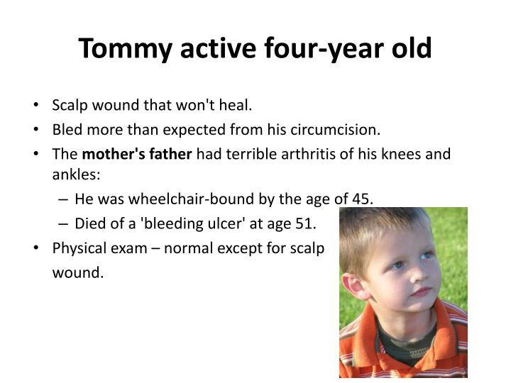 Tommy active four-year old