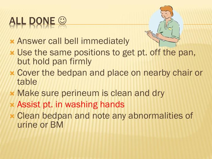 Answer call bell immediately