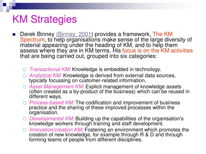 KM Strategies