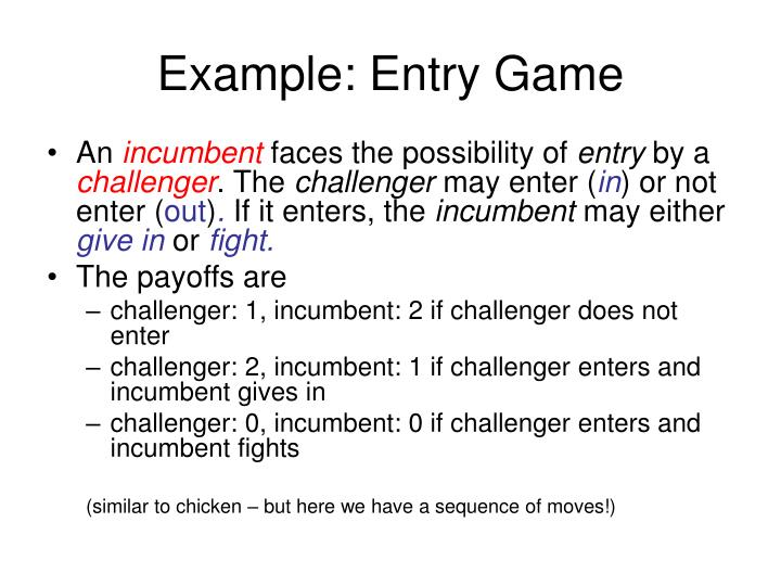 Example: Entry Game