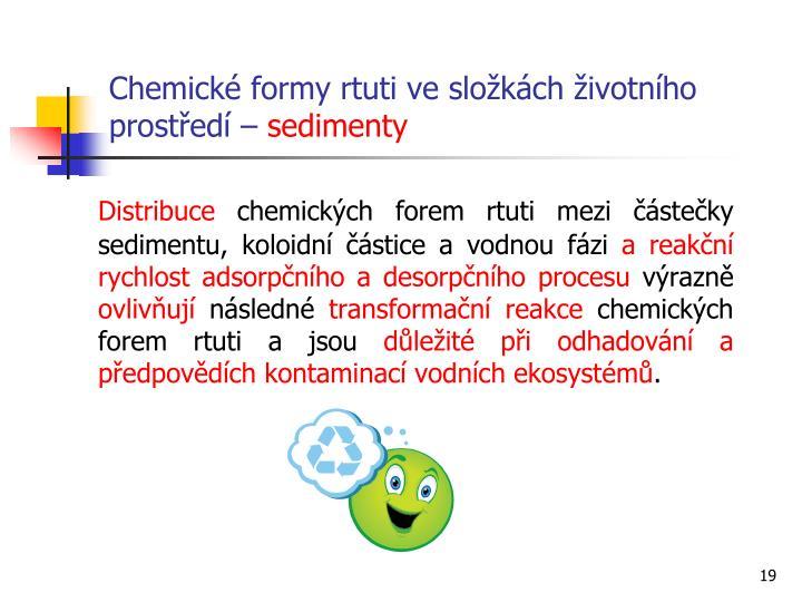 Chemické formy rtuti ve složkách životního prostředí –