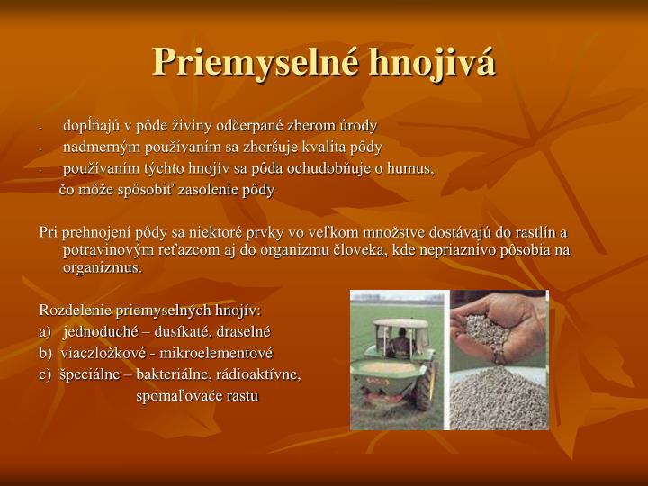 Priemyselné hnojivá