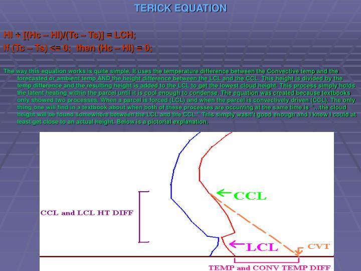 TERICK EQUATION