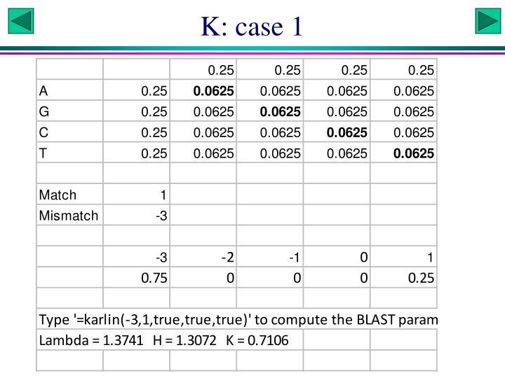 K: case 1